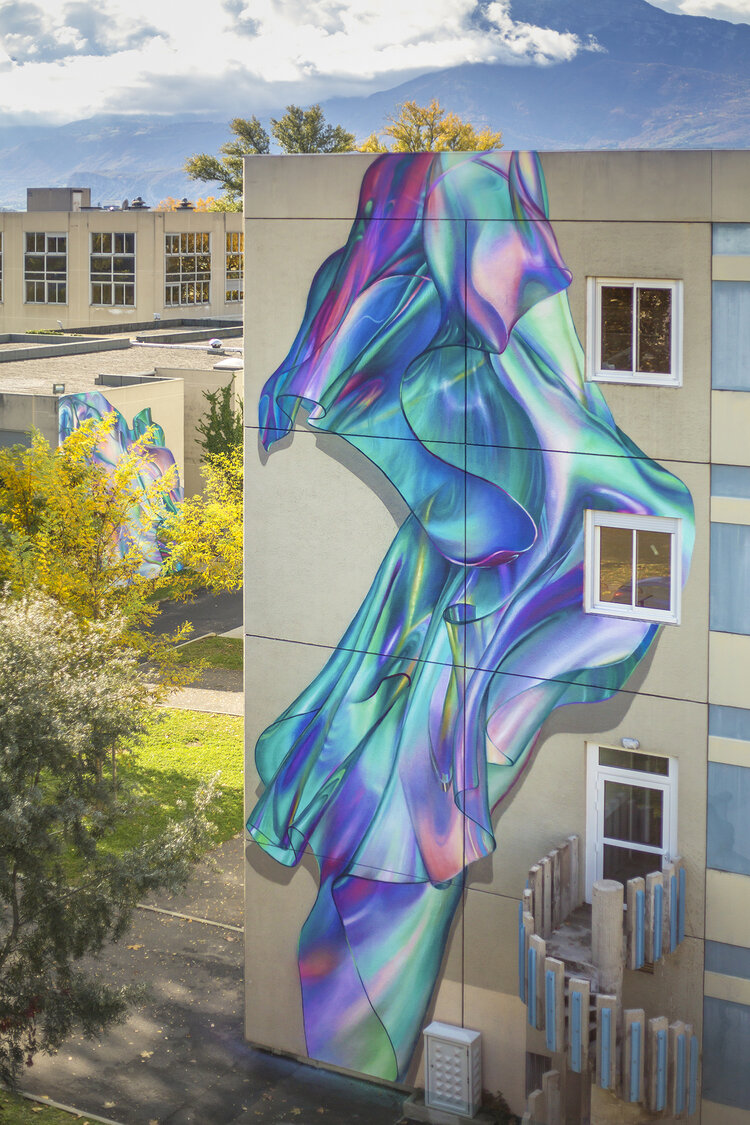 Deuxième fresque, à l'extrémité du bâtiment B